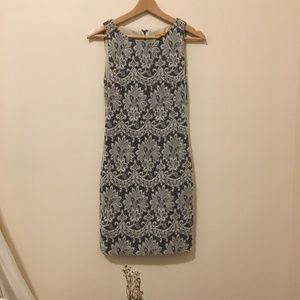 White & Grey Alice + Oliva Dress